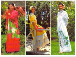 Polynésie Française-  Robes Polynésiennes Dites Mamaruau (4) Polynesian Dresses  (multi Vues) TEVA SYLVAIN Tahiti 1315 - Polynésie Française