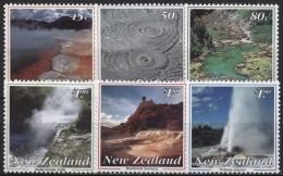 Neuseeland 1993 Landschaften Vulkan. Erscheinungen Rotorua 1284/89 Postfrisch - Neuseeland