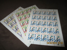 CHESS Arab Olympiad Libya 1976 In 3 Sheets Of 25 Complete Sets. Rare. MNH