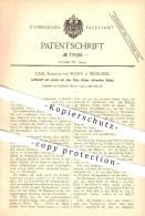 Original Patent - Carl Freiherr Von Wolff In München , 1893 , Luftschiff Mit Einem Rotierenden Ballon , Zeppelin !!! - Fliegerei