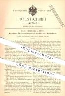 Original Patent - Paul Giesemann In Zeitz , 1894 , Mitnehmer Für Förderwagen Bei Ketten- Oder Seilbetrieb !!! - Zeitz