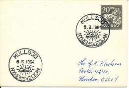 Sweden Small Postal Stationery Cover With Special Postmark Nyhemsveckan Mullsjö 8-6-1964 - Postal Stationery