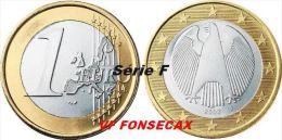 VF MOEDA DE 1 EURO  DA  ALEMANHA 2008 LETRA # F # - Germania
