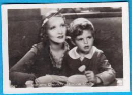 MERLENE DIETRICH & DICKIE MOORE  Original Vintage Germany Card Mercedes-Filmbilder *  German-American Actress And Singer - Cinema & TV