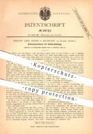 Original Patent - J.C. Bauer In Bathurst Am Gambia , Afrika , 1883 , Schraubenschlüssel Mit Gelenkverbindung , Banjul !! - Gambia