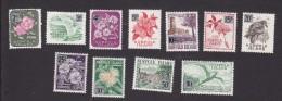 Norfolk Island, Scott #72-82, Mint Hinged, Island Scenes Surchraged, Issued 1966 - Norfolk Island