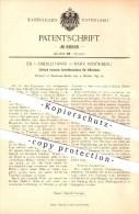 Original Patent - Ed. V. Oberleithner In Mährisch Schönberg / Sumperk , 1895 , Schaftmaschine Für  Weber !!! - Böhmen Und Mähren