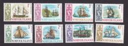 Norfolk Island, Scott #100-107, Mint Hinged, Ships, Issued 1967-68 - Norfolk Island