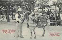 238369-Portugal, Acores, Azores, Sao Michael, Onion Seller, Native Costumes, Cafe Tavares No 37 - Açores