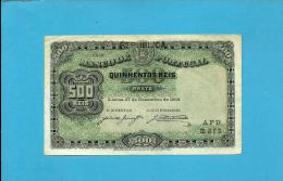 PORTUGAL - 500 REIS - ND ( 1917 - Old Date 27/12/1904 ) - Pick 105a - 2 Scans - Portugal