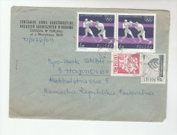 1969 POLAND  COVER   2x 1z TOKYO OLYMPIC BOXING Stamps To Germany Sport Olympics Games - Summer 1964: Tokyo