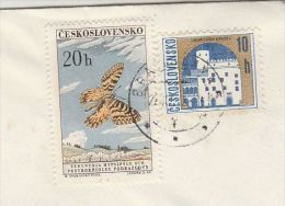 CZECHOSLOVAKIA  COVER 20h BUTTERFLY  Stamps To Germany Butteflies Insect - Czechoslovakia