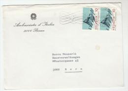 1968 SWITZERLAND Stamps COVER From ITALIAN EMBASSY In BERN   Italy - Switzerland