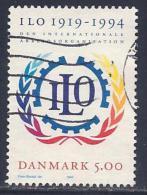 Denmark, Scott # 1011 Used ILO Anniv., 1994 - Danemark