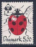 Denmark, Scott # 1091 Used Ladybug, 1998 - Danemark