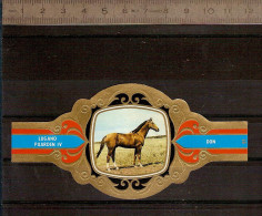 BAGUE DE CIGARE Grand Format 11,5 X 6 /LUGANO PAARDEN IV  N° 91 / CHEVAL : DON - Cigar Bands