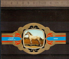 BAGUE DE CIGARE Grand Format 11,5 X 6 /LUGANO PAARDEN IV  N° 95 / CHEVAL : BERBER - Bauchbinden (Zigarrenringe)