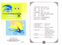 Folder 1991 Traffic Safety Stamps Liquor Crosswalk Hand Heart Car Motorbike - Motorbikes