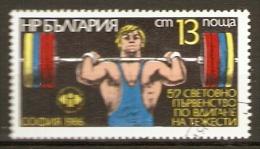 BULGARIE    -     1986 .   HALTEROPHILIE    -    Oblitéré - Pesistica