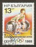 BULGARIE   -    1988  .   HALTEROPHILIE       Oblitéré - Pesistica