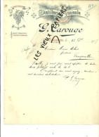 62 - Pas-de-calais - CORBEHEM - Facture CAROUGE -  Distillerie Vinicole – 1905 - REF 27 - 1900 – 1949