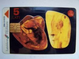 Chip Phone Card AMBERS From LATVIA Lettonie Lettland Carte Karte 5 Lati 03/2002 - Latvia