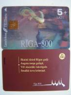 Rooster, Riga-800 Tre Dimension 3D Chip Phone Card  From LATVIA Lettonie Lettland Carte Karte 5+ Lati 01/2003 - Lettonie