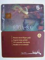 Rooster, Riga-800 Tre Dimension 3D Chip Phone Card  From LATVIA Lettonie Lettland Carte Karte 5+ Lati 01/2003 - Latvia