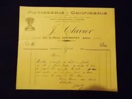 Commentry Allier PJ Clavier Patisserie Confiserie Boites Pour Baptèmes & Mariages 1916 - Food