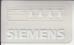 Carte Plastique Siemens - Autres