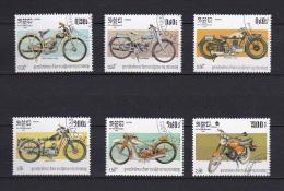 Lot 9 - Série De Timbres Oblitérés - Cambodge 1985 - Motos Anciennes Motorbikes - Moto