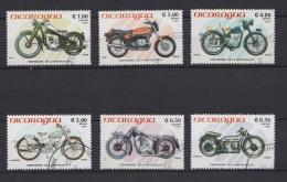 Lot 2 - Série De Timbres Oblitérés - Nicaragua 1985 - Motos Motorbikes - Centenaire De La Motocyclette - Moto