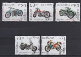 Lot 13 - Série De Timbres Oblitérés - Bulgarie 1992 - Motos Motorbikes - Moto