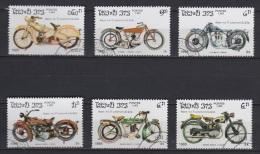 M1 - Série De Timbres Oblitérés - Laos 1985 - Motos Anciennes Motorbikes - Moto