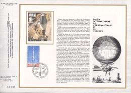 PA 52 (Yvert) Sur Feuillet Sur Soie N° 504 S Du Catalogue CEF Salon International Aéronautique Et Espace - 1979 - FDC