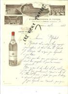 16 - Charente - JARNAC - Facture TIFFON -  Fine TIFFON – 1923 - REF 27 - France