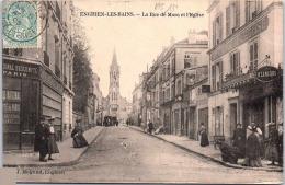95 ENGHEIN LES BAINS - Rue De Mora Et L'église -- - Enghien Les Bains