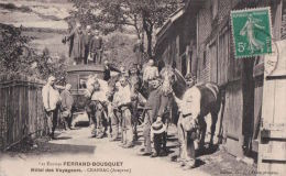 Cransac (12) Ecuries Ferrand-Bousquet  Hoitel Des Voyageurs CPA Circulée - Francia