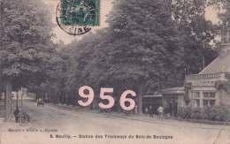 CPA * * NEUILLY-SUR-SEINE * * Station Des Tramways Du Bois De Boulogne ( Petit Pli En Bas A Droite ) - Neuilly Sur Seine