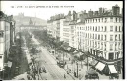 Dpt 69 Lyon Le Cours Gambetta Et Le Coteau De Fourviere - Lyon