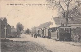 Sainte-Maria-Hoorebeke  Sint-Marie-Horebeke   Heirweg en Tramstatie De Zwaan   TRAM VAPEUR  STOOMTRAM   PRACHTIGE KAART