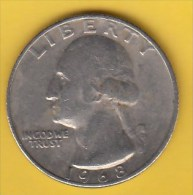 USA -  1968 Circulating 25¢ Coin (#1968-25-01) - 1932-1998: Washington
