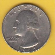 USA -  1968 Circulating 25¢ Coin (#1968-25-01) - Émissions Fédérales