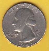 USA -  1969 Circulating 25¢ Coin (#1969-25-01) - 1932-1998: Washington