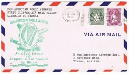 Pan Am  First Clipper Flight Limerick To Vienna 16.6.1946 - 1945-.... 2ª República