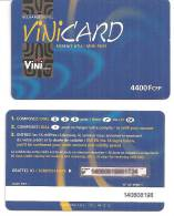 Telecarte Polynésie Française:  VINI CARD   BLEU  :   4400  Fcfp - French Polynesia