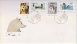 AAT 1994 Huskies 4v   FDC Ca Kingston Tas (21063) - FDC