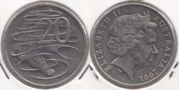 AUSTRALIA 20 Cents 2001 KM#403 - Used - Moneta Decimale (1966-...)