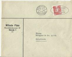=Schweiz CV  1938 SST Zurich - Cartas