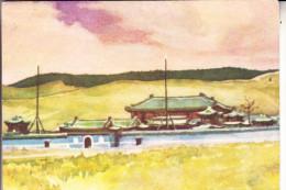 MONGOLIA / MONGOLEI - Künstler-Karte, Kloster Baiasgalantou - Mongolei